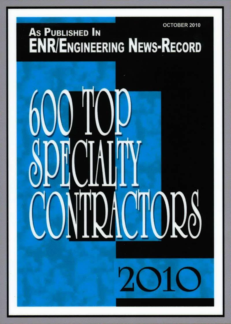 2010 – 600 Top Specialty Contractors – Engineering News-Record