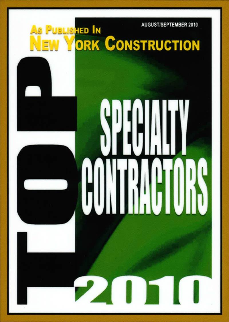 2010 – Top Specialty Contractors – New York Construction