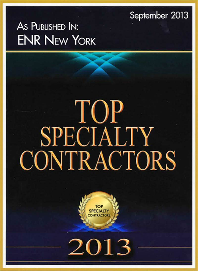 2013 – Top Specialty Contractors – Engineering News-Record New York