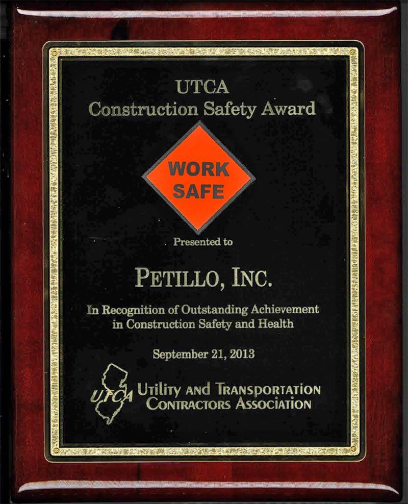 2013 – UTCA Construction Safety Award