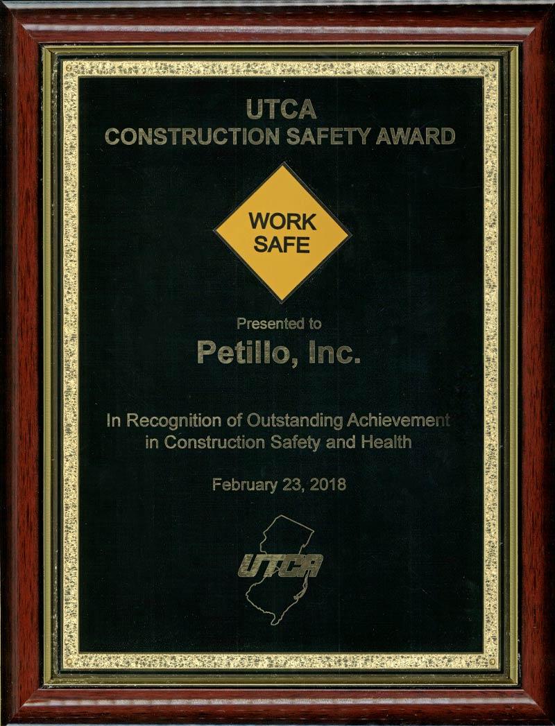 2018 – UTCA Construction Safety Award