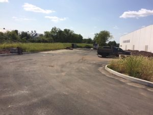 Curb and paved parking lot completed at Allen Flavours in South Plainfield, New Jersey