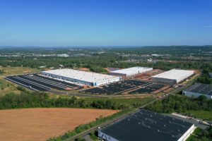 Bridge Point Somerset warehouse project aerial view update for May 2020