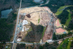Summer aerial perspective update of the Empire Casino and Resort project