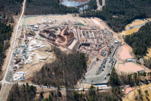 Fall aerial perspective update of the Empire Casino and Resort project