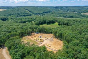 Aerial perspective from 350 feet looking West of the FLGX project site.