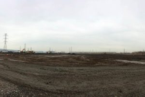 Land that's been cleared and graded for the Distribution Center construction.