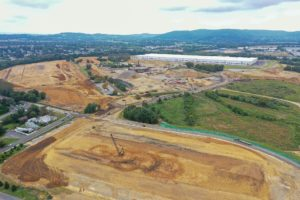 Earthwork and compaction being completed at I-78 Logistics Park