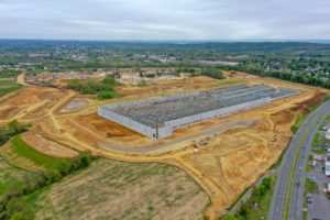 Warehouse construction at I-78 Logistics project