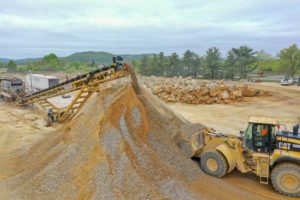 Rock crushing at I-78 Logistics warehouse
