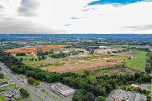 Aerial view of I-78 Logistics Project