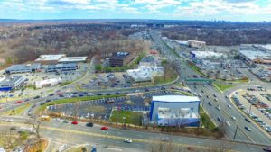 An aerial photo of the I-Fly complex in Paramus New Jersey taken from 350 feet to the East.