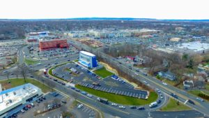 An overhead perspective of the Paramus, New Jersey I-Fly.