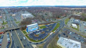An aerial photo from the North West of the completed i-FLY in Paramus, New Jersey.