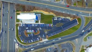 A overhead photo of the completed i-FLY in Paramus, New Jersey.