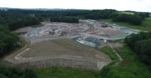 Construction progress at Kartrite Resort and Waterpark.