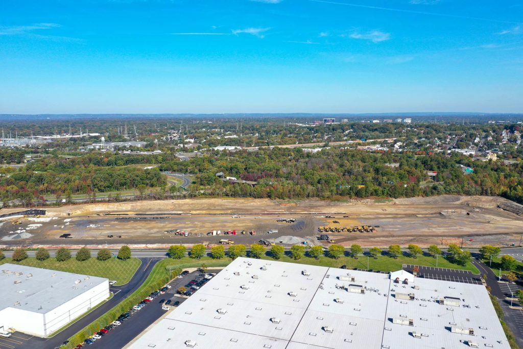 King Georges Post Road Construction Project Aerial View from North
