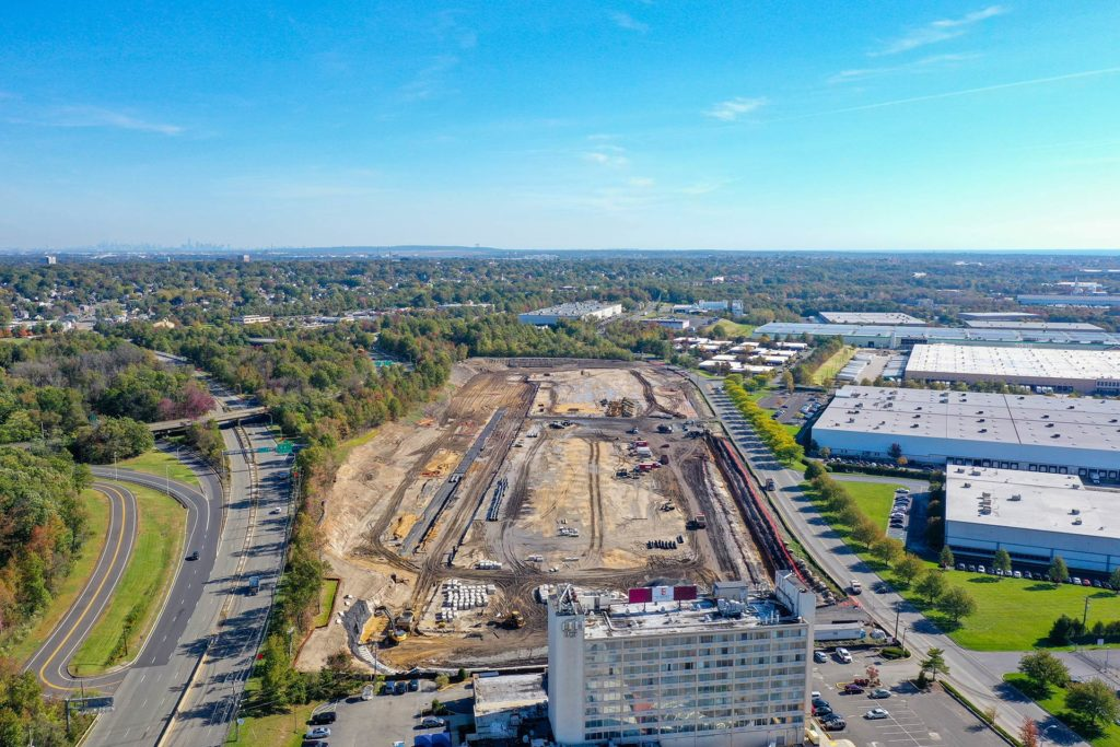 King Georges Post Road Construction Project Aerial View from East
