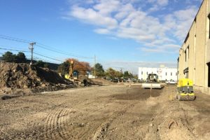 Site excavation and levelling at the Major League Baseball studios