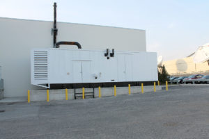Completed foundation and generator installation