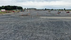 Panormaic view of the Medline Warehouse construction project