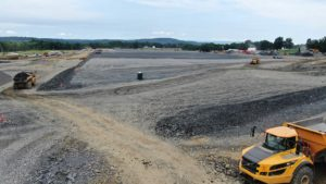 Medline Warehouse construction project levelled aggregate