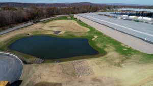 Water retention ponds built for water management and distribution