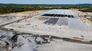 Medline Warehouse construction aerial view