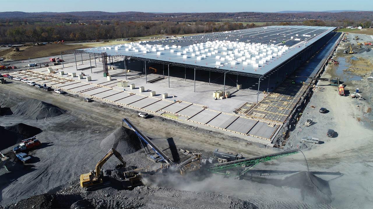 Medline Warehouse Construction November 2020 - Project Cover Image