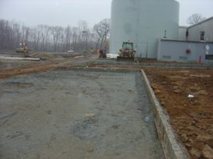 Graded sub-base material ready for paving.