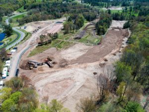 Monster Hills Golf Course Aerial View of Crushing and Grading