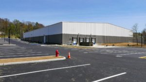 Completed parking lot and loading area at NYSCO in Hawthorne, New York.