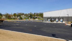 Paving, curb and site grading and levelling completed at NYSCO in Hawthorne, New York.