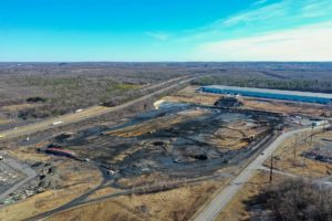 Earthwork and excavation completed at the New Distribution Center