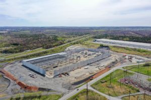 New Distribution Center construction project aerial photo taken from 350ft from the South East