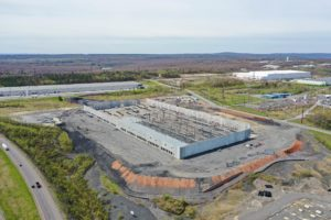 New Distribution Center construction project aerial photo taken from 350ft from the South West