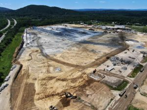 Aerial view of the entire property and warehouse construction for Project Redtail.