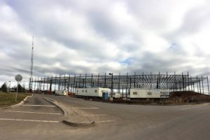 Metal framing constructed for the Prologis warehouse.