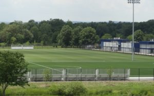 Completed recreational fields at the Red Bull Training Facility.
