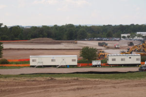 Site grading in progress at Red Bull Training Facility.