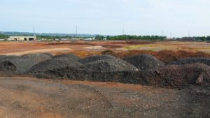 Clean back fill piled at the Rockefeller project in Piscataway, New Jersey.