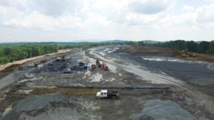 Aerial view of site excavation on the Sailfish project in Montgomery NY