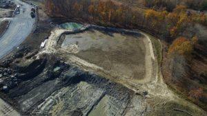 Aerial photo of Sailfish water retention pond