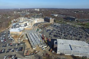 Concrete work completed at the St Barnabas Medical Center complex.
