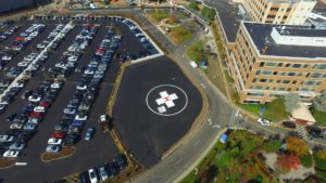 Completed helipad construction.