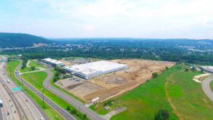 An alternate perspective of the land development for the Stateline Business Park in Mahwah, New Jersey.