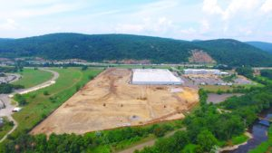 Land development of the Stateline Business Park in Mahwah, New Jersey.