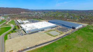 Aerial photo from 400 feet to the North East of the Stateline Business Park construction in Mahwah, New Jersey.