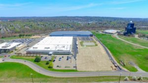 Eastern aerial photo of the completed Stateline Business Park in Mahwah, New Jersey.