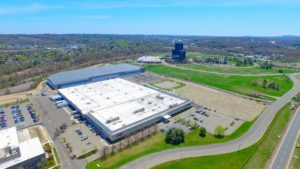 A view from 400 feet from the South East of the Stateline Business Park project in Mahwah, New Jersey.